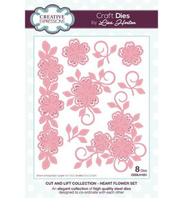 """Stanzschablone """"Cut and Lift Collection - Heart Flower Set"""" - Creative Expressions"""