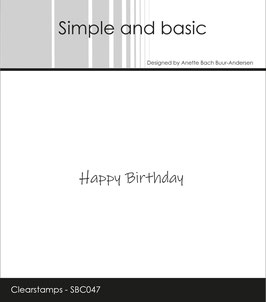 "Clearstamp ""Happy Birthday #2"" - Simple and Basic"