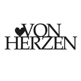 """Stanzschablone """"Von Herzen"""" - Mundart Stempel"""