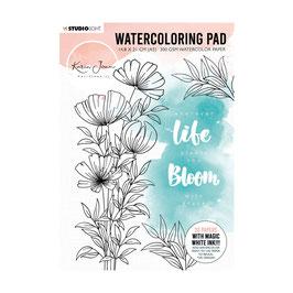 Blooming #1 Watercoloring Pad - Studiolight
