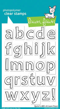 Clearstamps Quinns ABCs - Lawn Fawn
