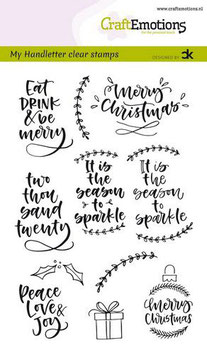 """Clearstamp """"Handletter Christmas #2"""" - CraftEmotions"""