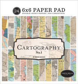 Cartography #1 6x6 Paperpad - Carta Bella