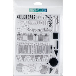 "Clearstamp-Set ""Birthday Stacks"" - Concord & 9th"