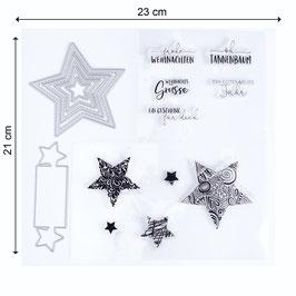 """Stempel- und Stanzenset """"Stars"""" - Mundart Stempel"""