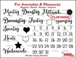 "Clearstampset ""Journalzz - Weekdays"" - Crealies"