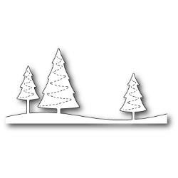 Stitched Evergreen Trees - Poppystamps
