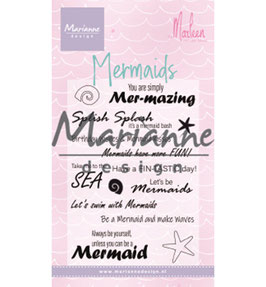 "Clearstamps ""Mermaid Sentiments"" - Marianne Design"