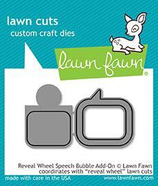 Reveal Wheel Speech Bubble Add-On Die - Lawn Fawn