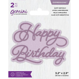 "Stanzschablone ""Happy Birthday"" - Gemini"