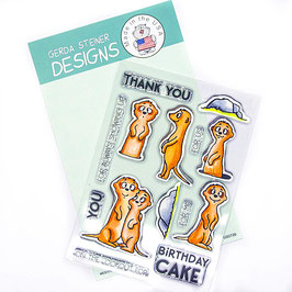 "Clearstampset ""Meerkats on the Lookout"" - Gerda Steiner Designs"
