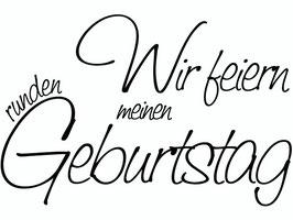 """Holzstempel """"Wir feiern meinen runden Geburtstag"""""""