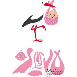 """Collectables """"Eline's Stork"""" - Marianne Design"""