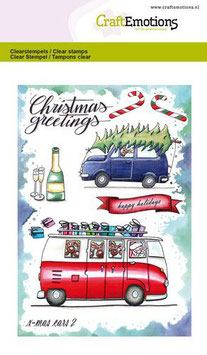 """Clearstamp """"Christmas Cars #2"""" - CraftEmotions"""