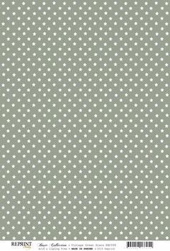Vintage Green Stars - Reprint