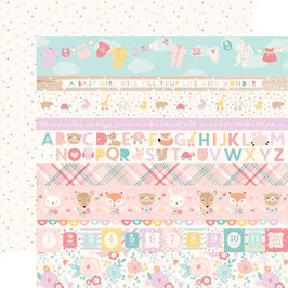 Hello Baby Girl, Border Strips - Echo Park Paper