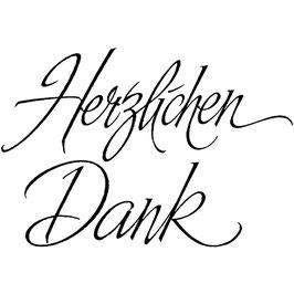 """Holzstempel """"Herzlichen Dank"""""""