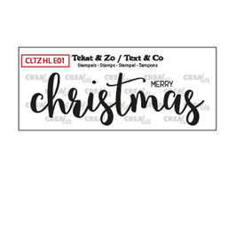 """Clearstamp """"Merry Christmas (Solid) - Crealies"""