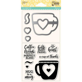 "Stamp & Die Set ""Hug in A Mug"" - Hampton Art"
