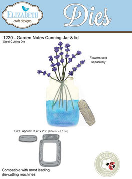 Canning Jar & Lid - Elizabeth Craft Designs