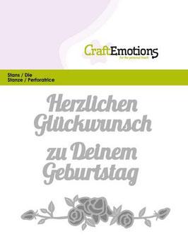 """Stanzschablone """"Herzlichen Glückwunsch"""" - CraftEmotions"""