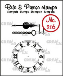 "Clearstamp ""Clock with Chain"" - Crealies"