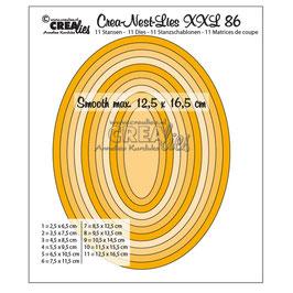 """Stanzschablone """"Ovals (half cm)"""" - Crealies"""