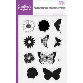 """Clearstampset """"Butterflies & Blooms"""" - Crafter's Companion"""