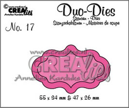 "Duo Die No. 17 ""Labels 4"" - Crealies"
