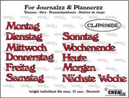 """Stanzschablone """"Wochentage"""" - Crealies"""