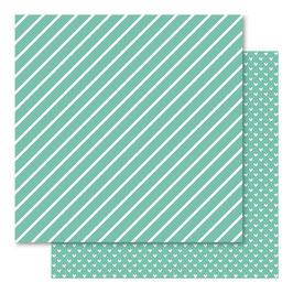 Hearts & Stripes Foiled Cardstock, Lucite - Bella