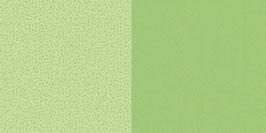 Punkte und Blumen, Limettengrün - Dini Design