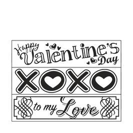 """Prägeschablone """"Valentines"""" - Darice"""