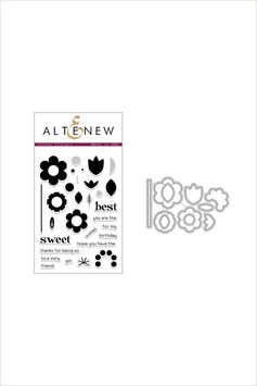 Folksy Florals Stamp & Die Bundle - Altenew