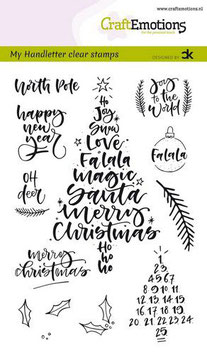 """Clearstamp """"Handletter Christmas #1"""" - CraftEmotions"""