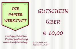 Gutschein € 10,00