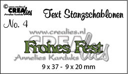 Frohes Fest - Crealies