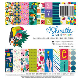 Shimelle Box of Crayons 6x6 Paperpad - American Crafts