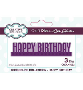 "Stanzschablone ""Borderline Collection - Happy Birthday"" - Creative Expressions"