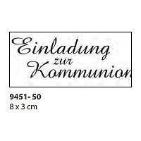 Holzstempel - Einladung zur Kommunion