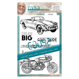 "Clearstampset ""#6 Men - Motors"" - Coosa Crafts"