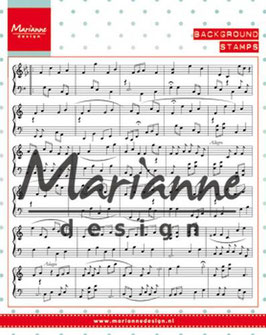 "Clearstamp ""Background Music Notes"" - Marianne Design"