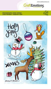 """Clearstamp """"Snowy & Friends #2"""" - CraftEmotions"""