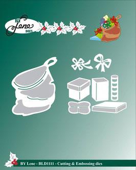 """Stanz- und Prägeschablone """"Santa Claus Gift Bag"""" - By Lene"""