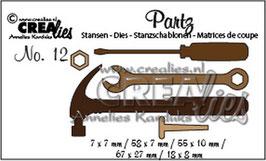 Partz No. 12 Werkzeuge - Crealies