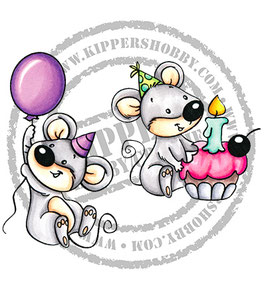 Birthday Mice - C.C.Designs