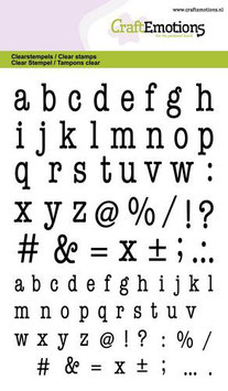 "Clearstamp ""Lowercase Alphabet Typewriter"" - CraftEmotions"