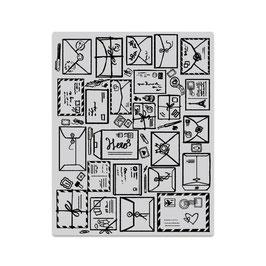Mail Jumble Background Stamp - Hero Arts