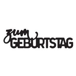 """Stanzschablone """"Zum Geburtstag"""" - Mundart Stempel"""