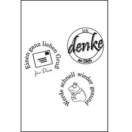"Clearstamps ""Ich denke an Dich"" - EFCO"